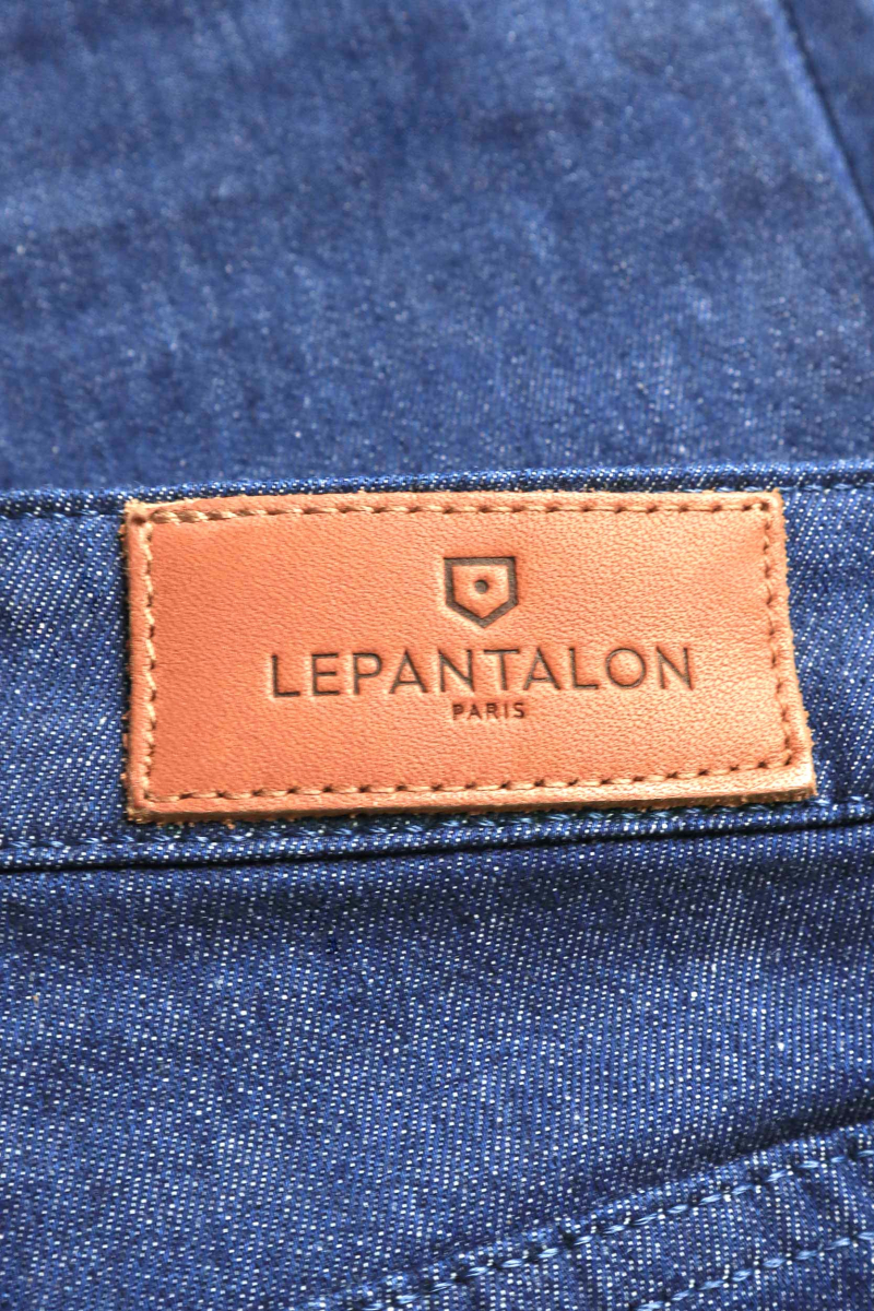 22c4d9435e LePantalon : jean taille mi-haute bleu pour femme