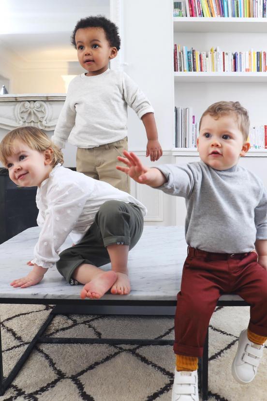 Burgundy Children's Chinos