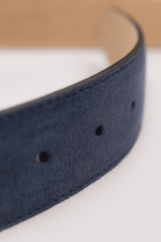 Blue Suede Leather Belt